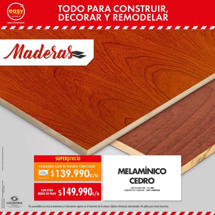 Melamínico Cedro • 183 x 250 cm • 15 mm 2262913/1155618