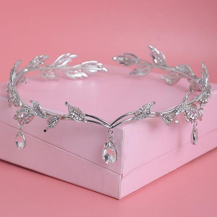Crystal Crown Bridal Hair Accessory Wedding Rhines…