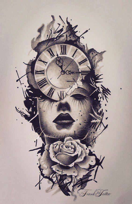 Clock Tattoo – Über 300 Bildideen