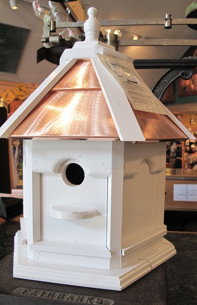 -WOODY'S PAINTED COPPER TOP GAZEBO BIRD HOUSE - The Bird Store And More
