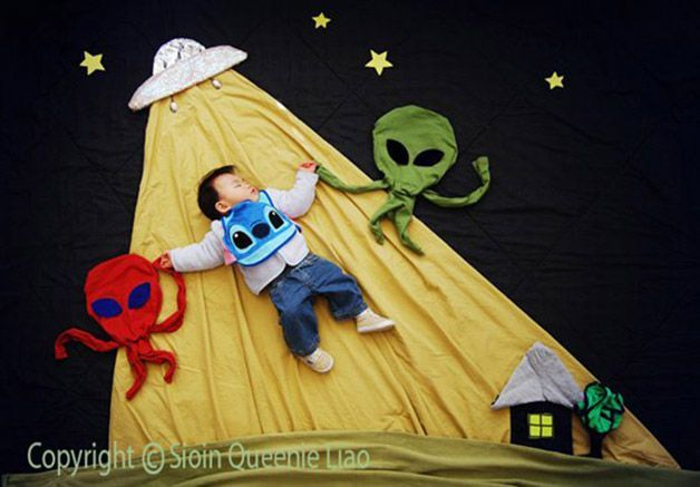 Madre creativa china coloca a su hijo dormido en aventuras inimaginables - Chinese creative mother puts her child asleep in unimaginable adventures (Queenie Liao)
