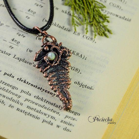 Fern Necklace BotanicalLeaf Pendant Jewelry by POCIECHAjewelry