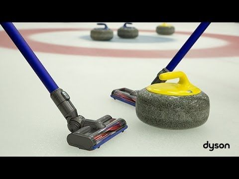 In a humorous attempt to demonstrate the strength of their technology, Dyson handed over their digital slim vacuum to the British curling team.