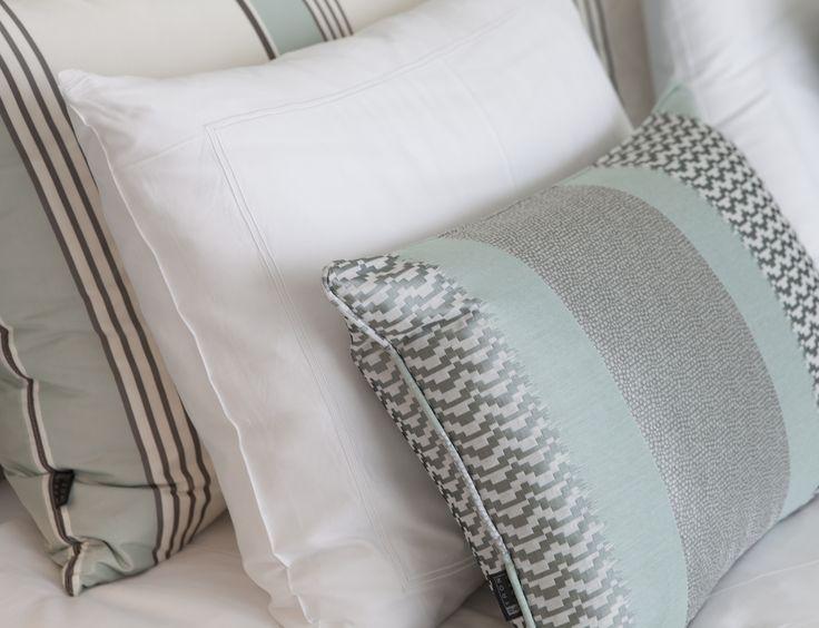 Byron & Jones Interiors - Cushions - Light Blue - White