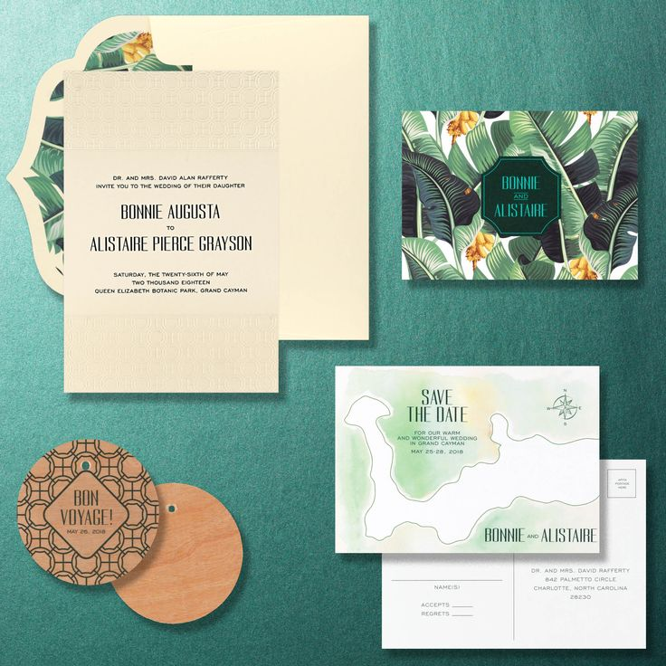 Tropical Chinoiserie Wedding Invitation Suite From Checkerboard And The Editors Of BRIDES