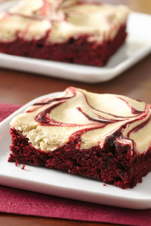 Red velvet meets coffee in these decadent cream cheese-swirled brownies. They might look fancy, but they only take 15 minutes of hands-on time and four easy steps! Perfect for a chocolaty Valentine's Day treat—or anytime, really!