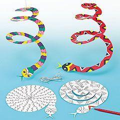 Begeleide of zelfstandige activiteit - Slang spiraal knippen