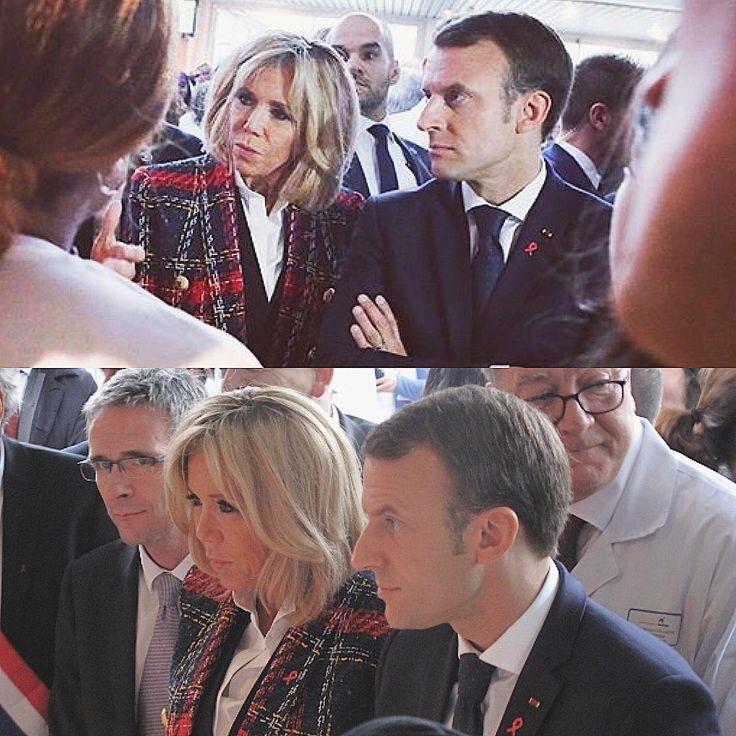 1/12/17 | Emmanuel et Brigitte Macron visitent l'hôpital Delafontaine à Saint Denis à l'occasion de la Journée Mondiale de lutte contre le Sida. 🎗 #EmmanuelMacron #BrigitteMacron #Macron #WorldAIDSDay #CoupleMacron