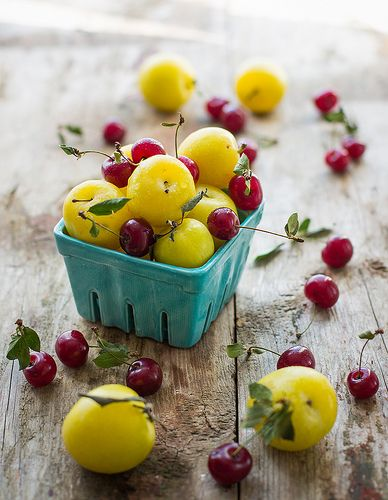 Yellow plums and cherries by Julicious @ Flickr - Photo Sharing!