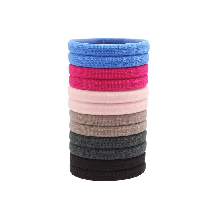 Hysagtek Hair bands for Childen Girls Ladies Various Colours 12Pcs In One Set. 12 Pack/Set of hairbands, enough to make any hairstyle. Available in 6 various bright and nice colours. Strong-long lasting and kind to hair. 12 hair bands in a small bobbin, easy to storage and not easily lost. Great for birthday gifts,ideal Christmas stocking filler/party bag filler.