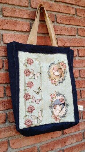 Totebag Mirabelle Santoro. Bolsa. Fabric. Handmade.
