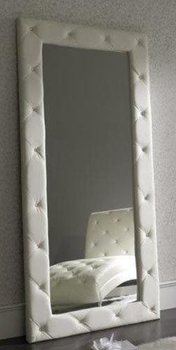 """Moving this from home decor to the """"to-do"""" board. I think I could mount a mirror to a piece of plywood that was larger by 6-8 inches on all sides, and make separate pieces of upholstered framing, and attach them from the back. I have a pretty big plain mirror to start with. Any thoughts/suggestions?"""