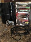 Sony PlayStation 3 Launch Edition 80 GB Piano Black Console (CECH-E01) 22 Games