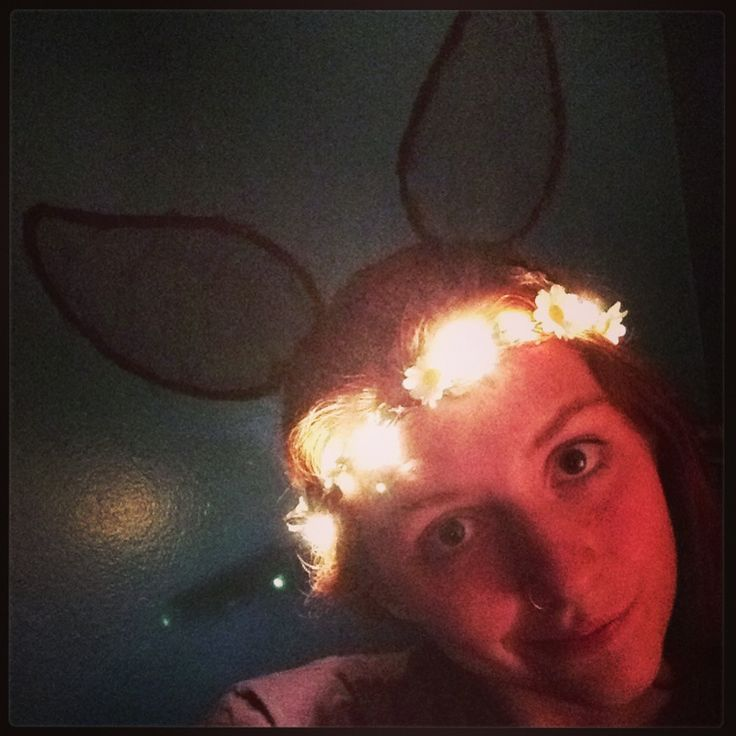 Becky Bunny goes to what the festival 2013! Homemade flower crown + ears