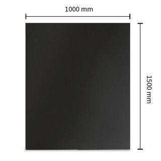 Funkenschutzplatte Stahl Rechteck 1500 x 1000 mm Schwarz/Gussgrau