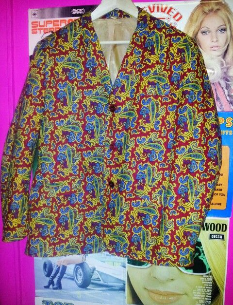 RARE!!! Paisley Jacket Originally bought on Carnaby Street in 1967!!!
