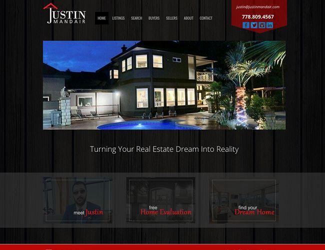 Justin Mandair Vancouver Realtor, Calgary website design by Kreative Kekeli Design & Marketing