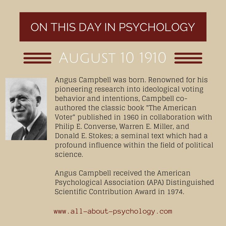 """August 10th, 1910. Angus Campbell was born. Renowned for his pioneering research into ideological voting behavior and intentions, Campbell co-authored the classic book """"The American Voter"""" published in 1960; a seminal text which had a profound influence within the field of political science. #psychology #PoliticalScience"""