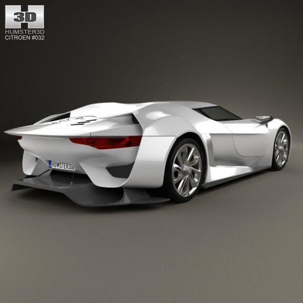 Citroen, 3d Model, Sports Car