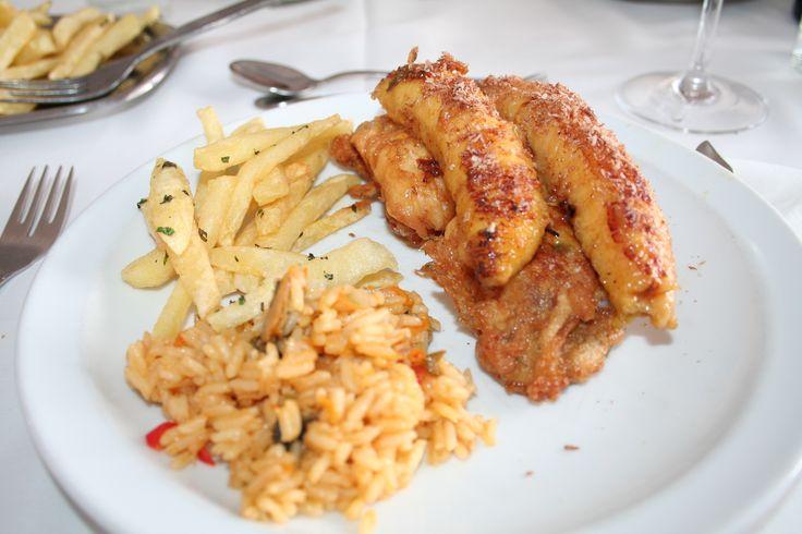Filete de Espada com banana e arroz de lapas (Brisamar - Seixal)