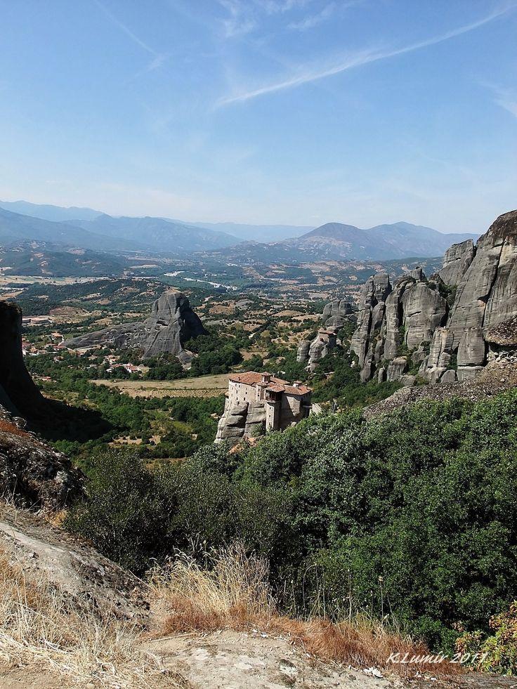 Krásná vyhlídka na Meteori - Řecko
