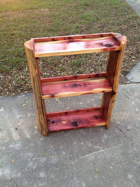 3 Shelf Cedar Bookcase by BarroneFarm on Etsy