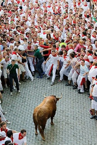 15. See 'Running of the Bulls' at a safe distance. (Screw that 16 year old self- I want to RUN!)