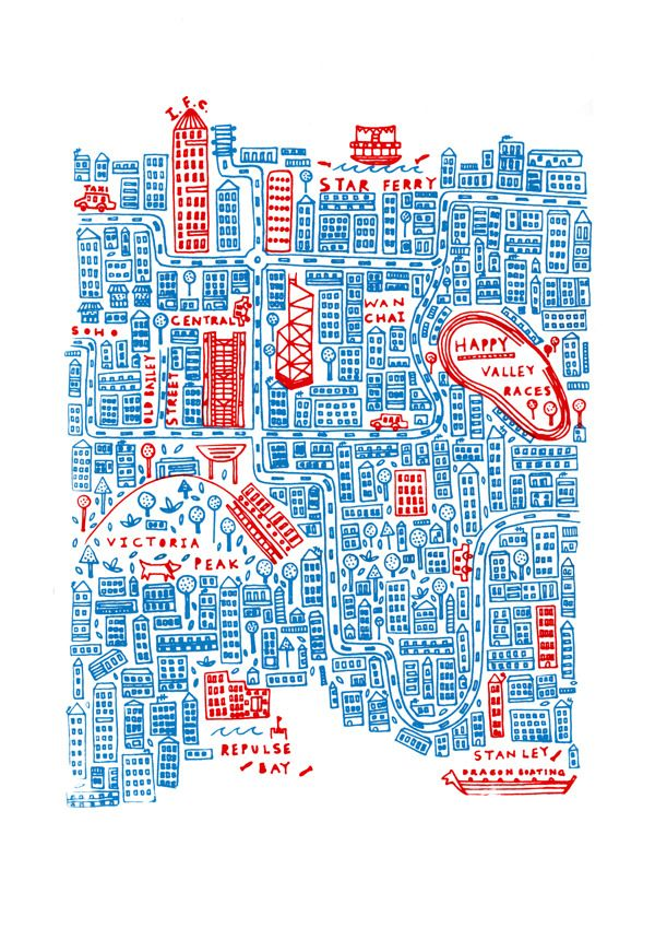 Steph Marshall - Map of Hong Kong