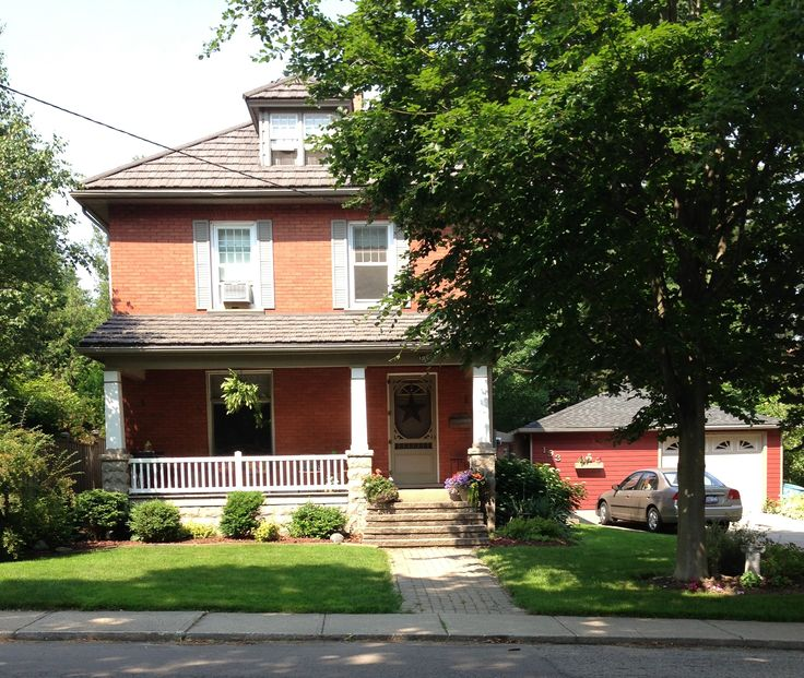Lovely old red-brick home. A very common style of the era, classic, and one of my favorites.
