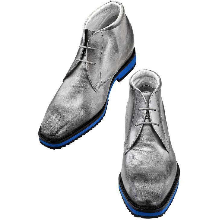 """Fabriquées main en cuir pleine fleur, les """"Tribeca"""" : 6, 7 ou 8 centimètres en plus au prix de 595€. http://www.chaussuresrehaussantes.fr/ete-2014/tribeca-detail"""