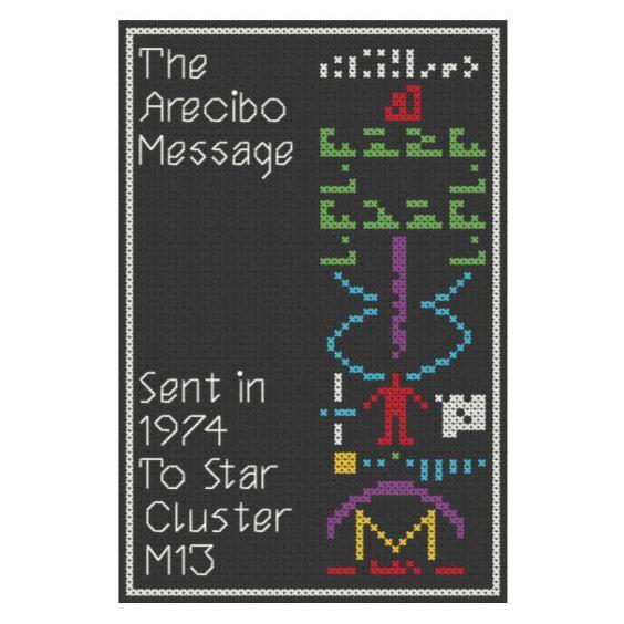 The Arecibo Message Cross Stitch Pattern