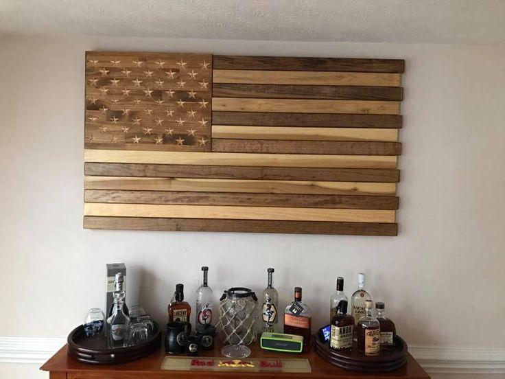 Monster 5ft Wood American Flag – Old Glory 27 Flag Company