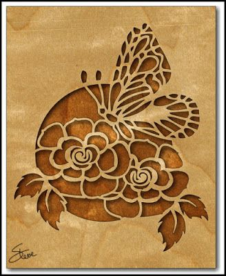 Rose and Butterfly Scroll Saw Pattern.
