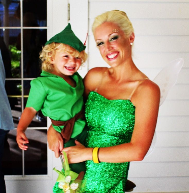 disney tinkerbell and peter pan mother and son matching halloween costumes - Halloween Costumes Matching