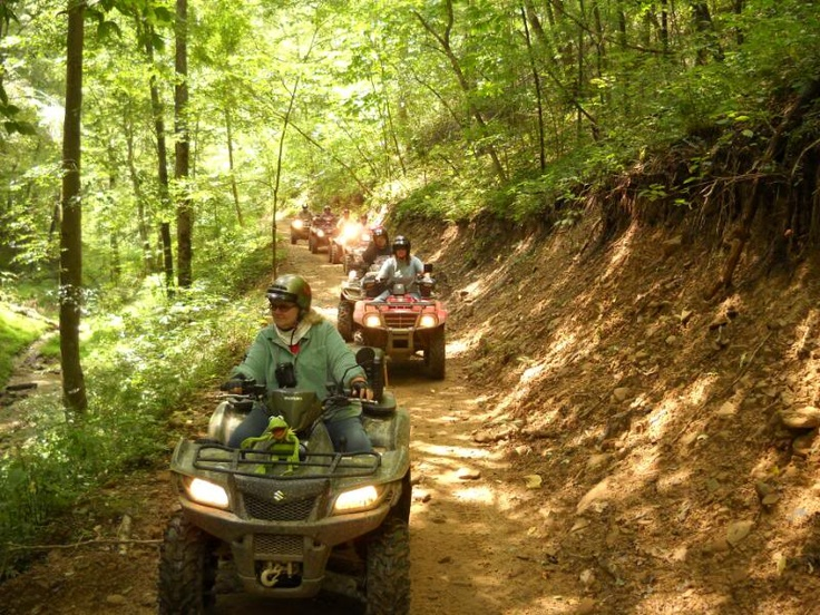 Hatfield/McCoy Trails in WV  http://www.wvyourway.com/west_virginia/tourism.aspx
