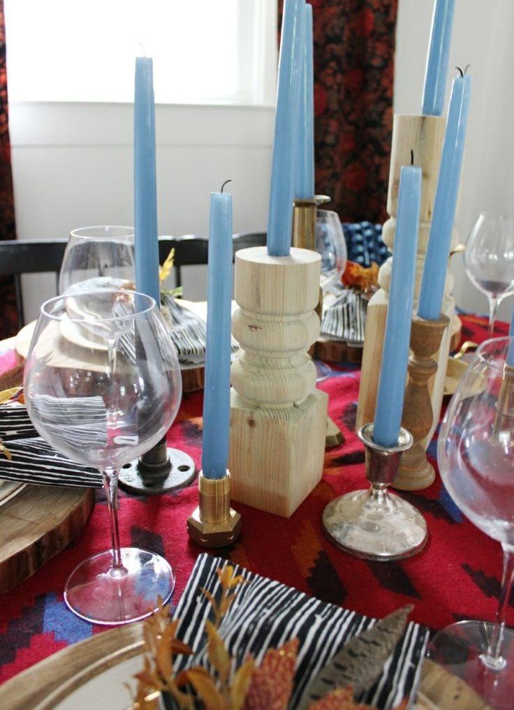 candelabro manualidades preciosas velas romanticas pipas madera ideas