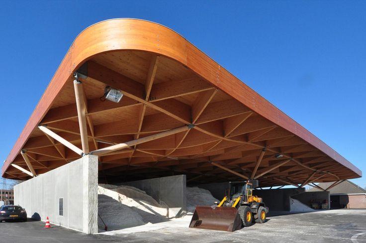 Highway Support Center in  Balkan Dwarsweg, Assen, The Netherlands / 24H architecture #architecture