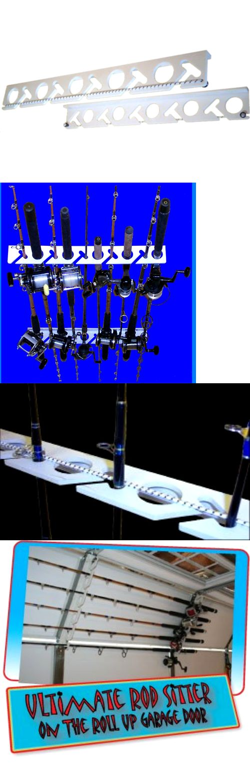 Rod Cases Tubes and Racks 81473: Rod Sitter 10 Fishing Rod Storage Rack Mounting Overhead Vertical Or Horizontal BUY IT NOW ONLY: $37.41