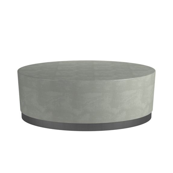 Lucca Concrete Outdoor Round Coffee Table Round Coffee Table