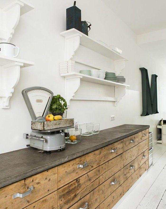 cuisine industrielle l 39 l gance brute en 82 photos exceptionnelles kitchen cuisine. Black Bedroom Furniture Sets. Home Design Ideas