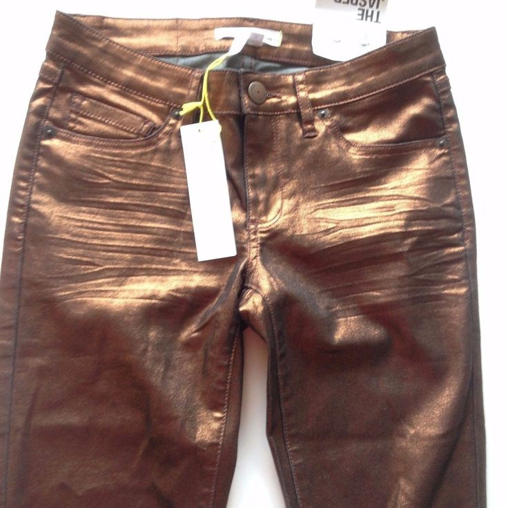 NEW BCBGeneration bcbg BRONZE GOLD JEANS PANTS WOMENS CLOTHES SIZE 25 xSMALL NWT #BCBGeneration #CasualPants