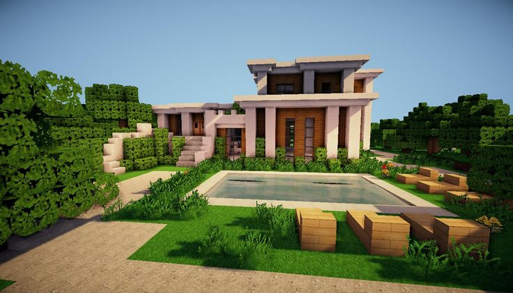Modern Architecture Minecraft House! Anyone know the resource pack for this one???