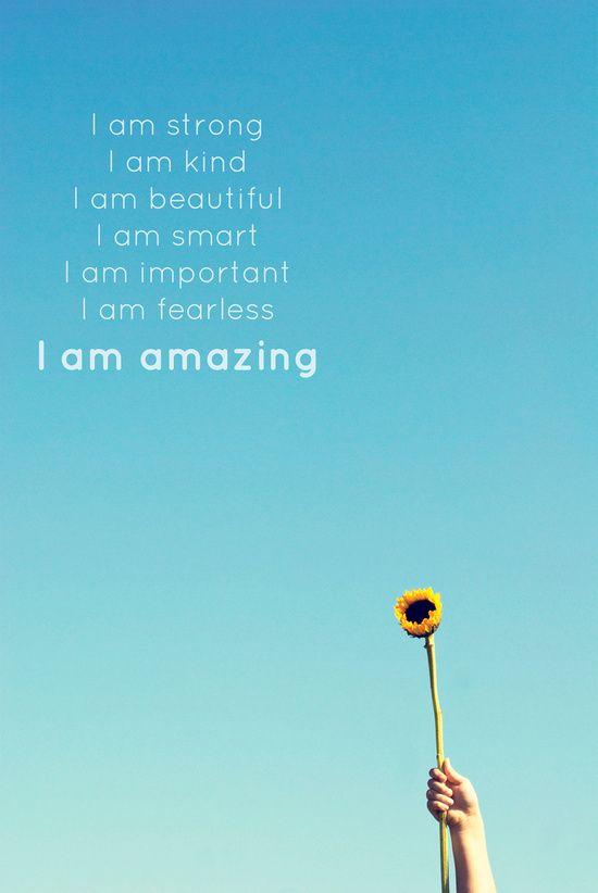 I am amazing affirmation