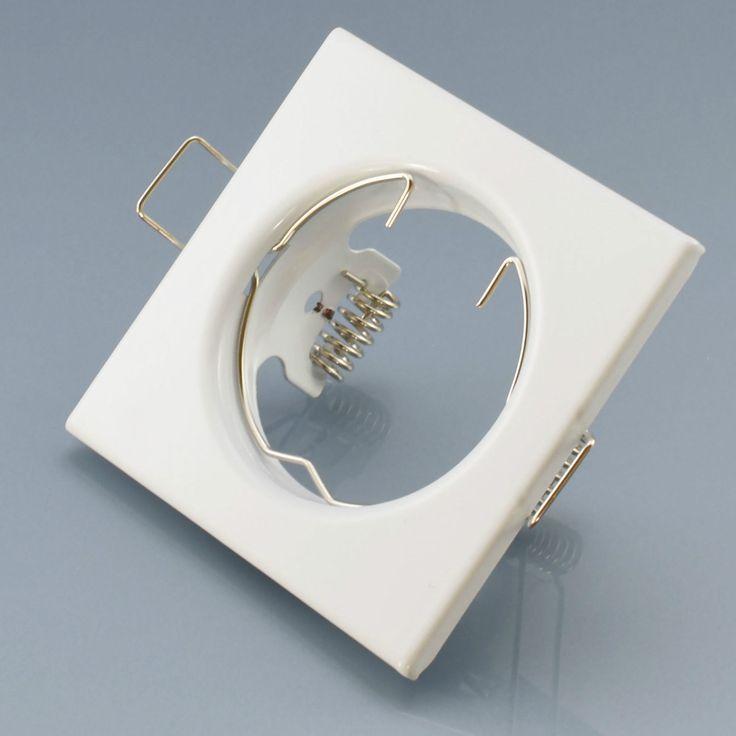 Einbaustrahler weiß Einbauleuchte Einbaurahmen Einbauspot Spot GU10 Rahmen Lampe