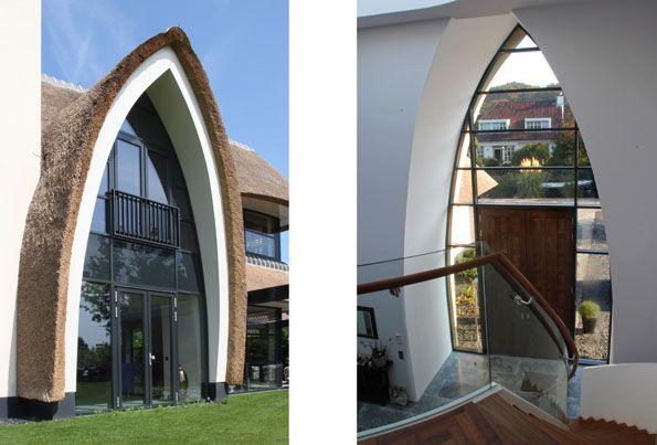 17 best images about modern huis rieten kap on pinterest for Engelse tuin 1 waalre