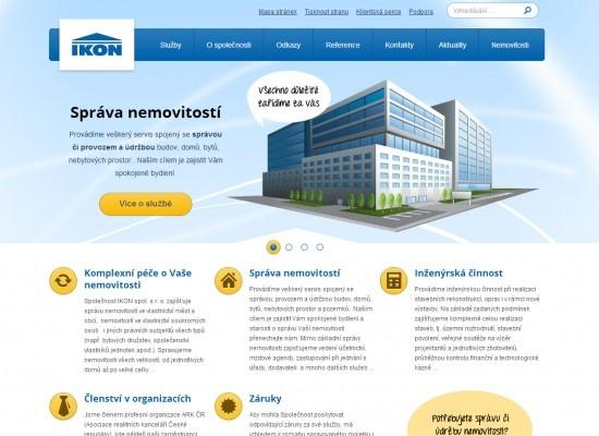 Redesign webu Ikon.cz - předního správce pražských nemovitostí.