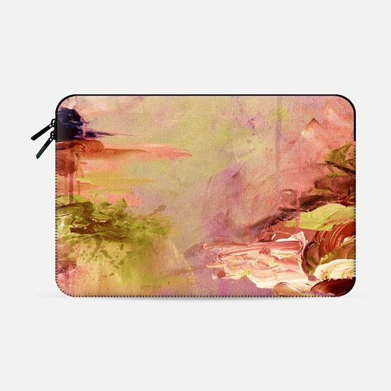 """Winter Dreamland 3"" by Artist Julia Di Sano, Ebi Emporium on @casetify Fine Art Abstract Acrylic Painting Colorful Watercolor Multicolor Brushstrokes Whimsical Pink Peach Coral Green Purple Brown Peach Coastal Ocean Macbook Sleeve Cover #macbook #tech #sleeve #painting #watercolor #macbookpro #macbookair #fineart #art #colorful #Casetify #coastal #peach #pink #macbookcover #techdevice Get $10 off using code: 5K7VFT"
