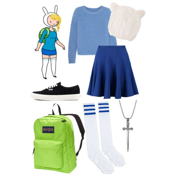 Fiona the Human // Adventure Time // Back to School by ginger-coloured on Polyvore