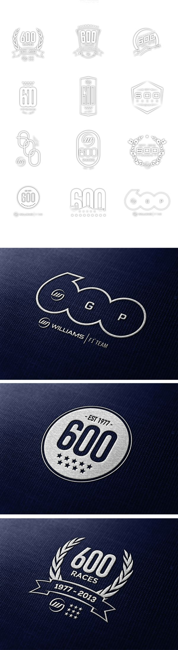 pinterest.com/fra411 #logotype - Williams F1 Team - 600 Races by Samuel Ladlow, badge / anniversary