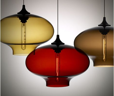 Contemporary Lamp collection from Nichemodern - Blown Glass Pendants as Original as You Are!